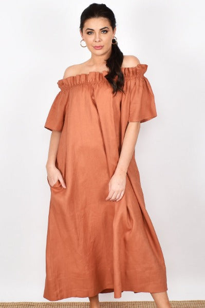 MADDIE OFF SHOULDER MAXI | DRESS