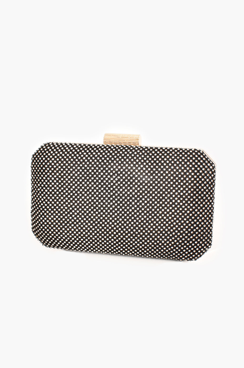 DIAMANTE MESH STURCTED BLACK | CLUTCH