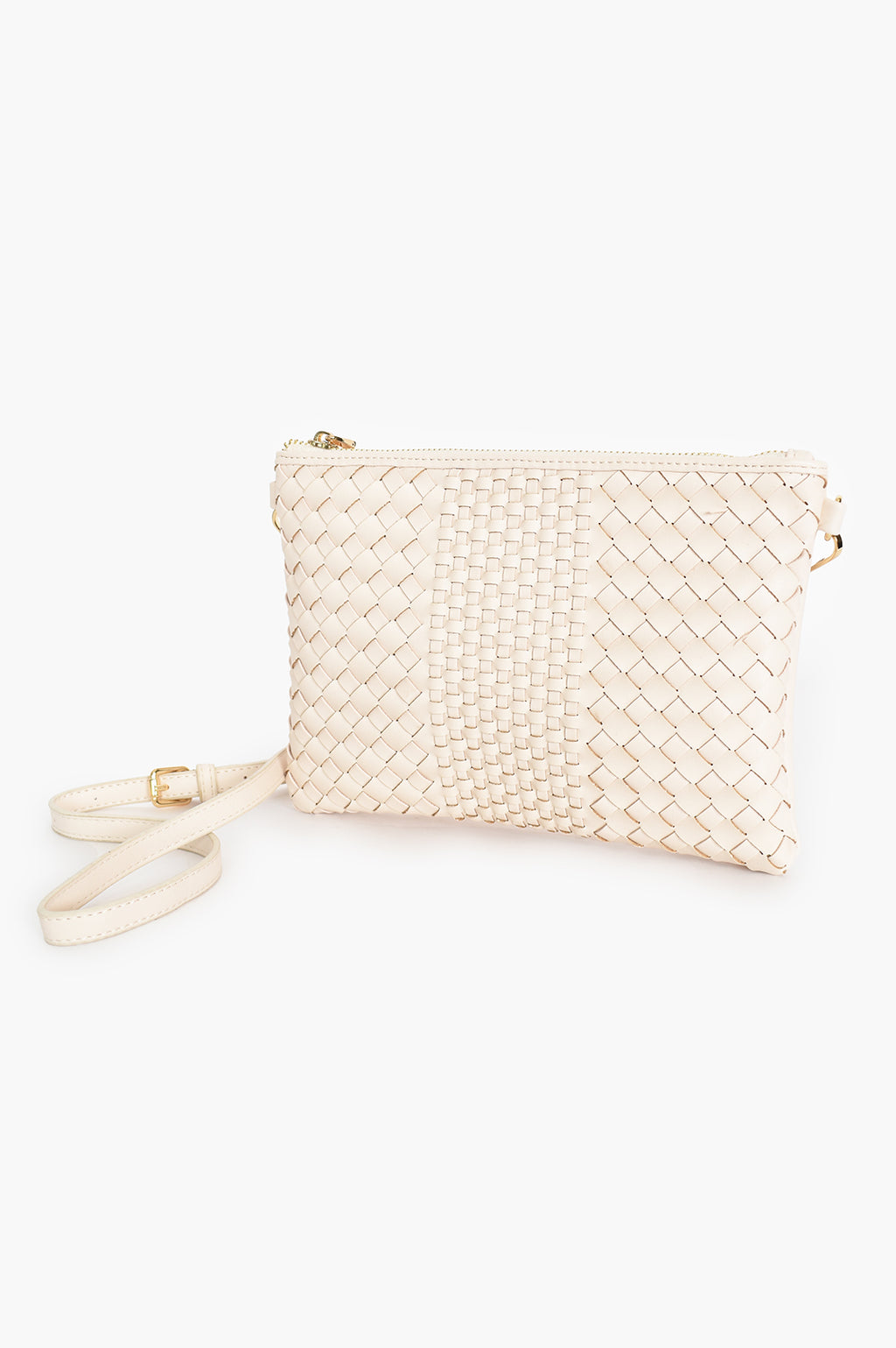 MIXED PLAIT ZIP CREAM | CLUTCH