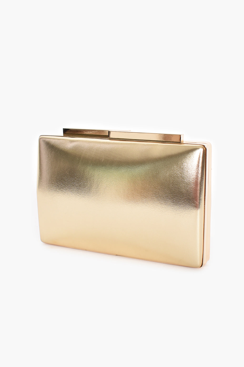 METALLIC STURCTED GOLD | CLUTCH