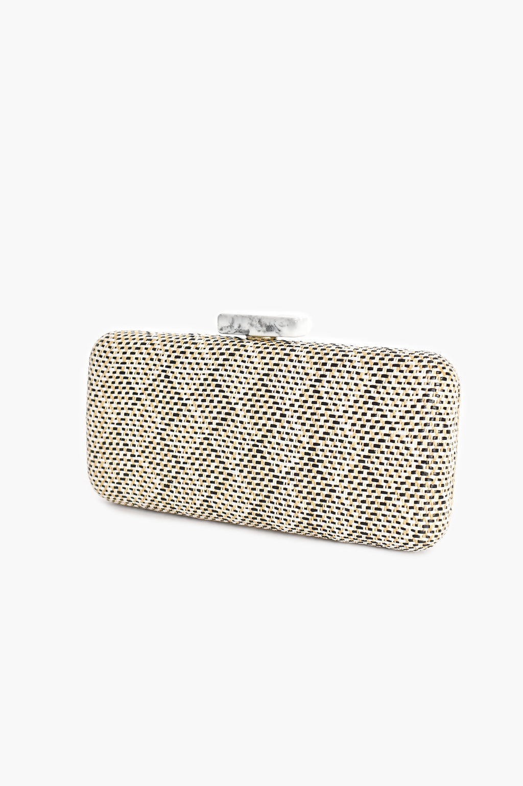 RESIN CLASP WEAVE (WHITE/BLACK) | CLUTCH