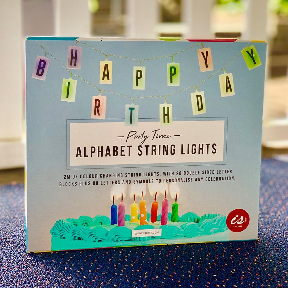 COLOUR-CHANGING ALPHABET STRING LIGHTS