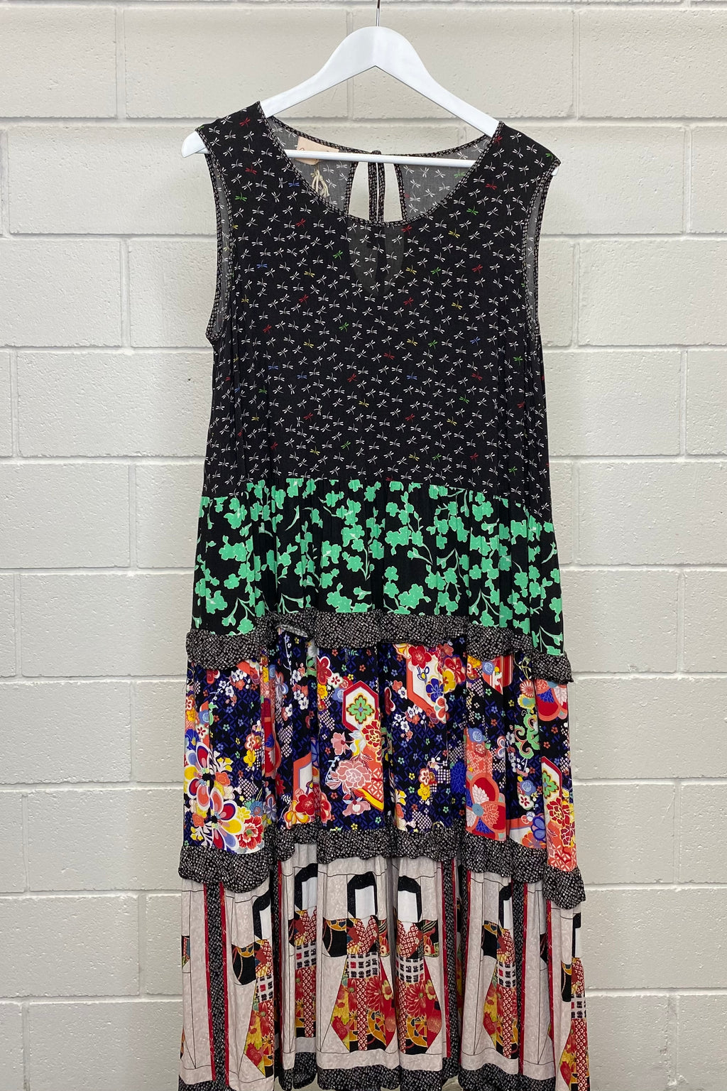FLORAL AND PRINTED MAIOCCHI SIZE 16 | Dress (Preloved)