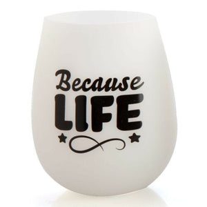BECAUSE LIFE | Glow In The Dark Silicone Wine Cup