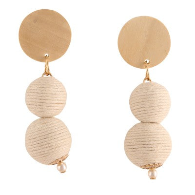 BIANCA NATURAL BEAD DROP | EARRINGS