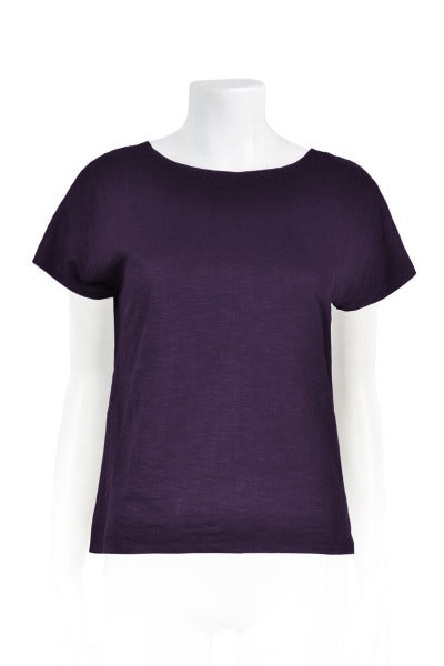 CLEO BAMBOO COTTON 'BLACK CURRANT' | TEE SHIRT