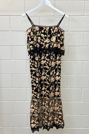 RODEO SHOW FLORAL MIDI SIZE 6 | DRESS (Preloved)