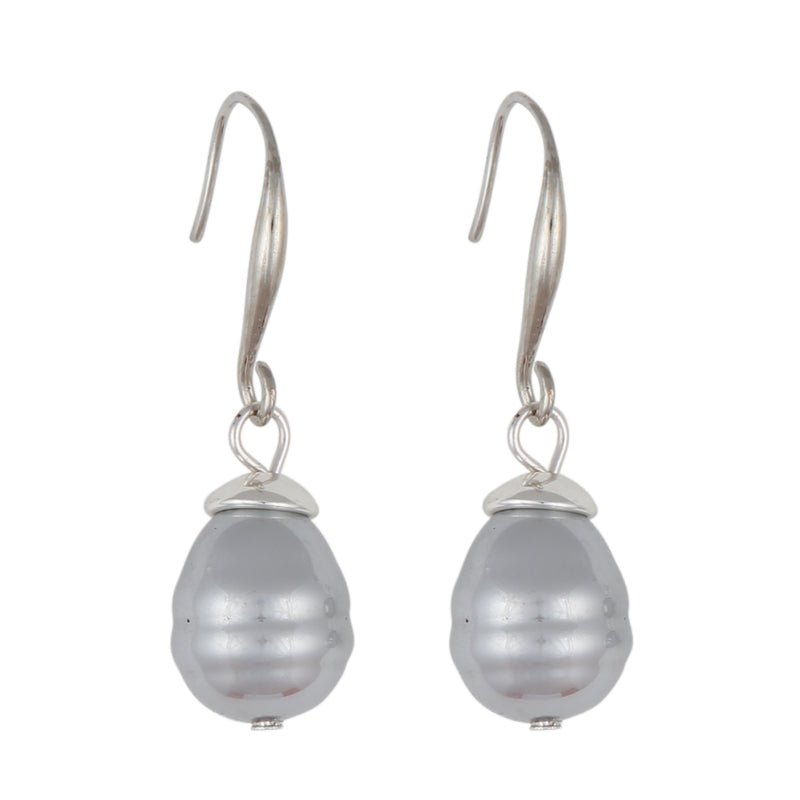 CALAIS GREY DROP | EARRINGS