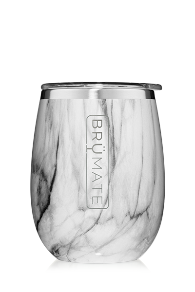 UNCORK'D WINE GLASS by BruMate | Marble