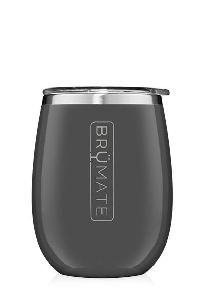 UNCORK'D WINE GLASS by BruMate | Charcoal Grey