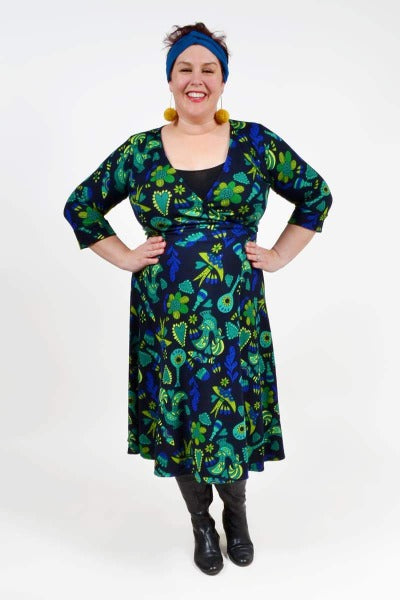 THE CLARA WRAP 'FOLK ART TEAL' | DRESS