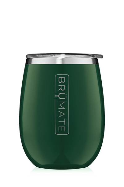 UNCORK'D WINE GLASS by BruMate | Emerald Green