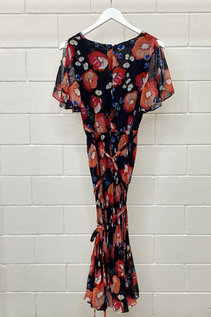 NEW WITH TAGS PLEATED MAXI SIZE 14 | DRESS (Preloved)