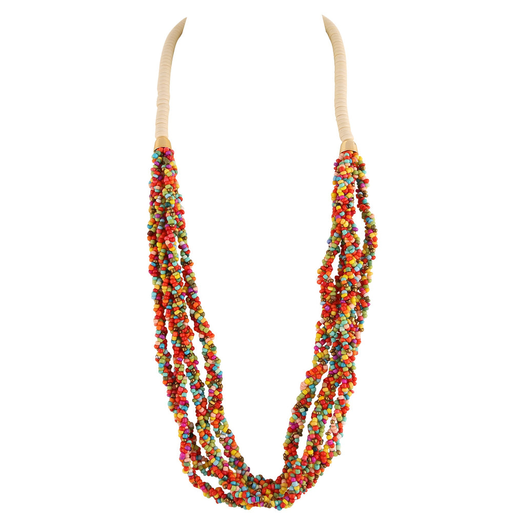 FEARNE MULTI-COLOURED SPECKLED | NECKLACE
