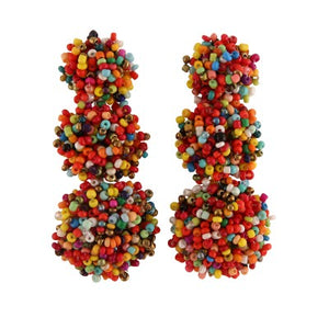FEARNE MULTI-COLOURED SPECKLED DROP | EARRINGS