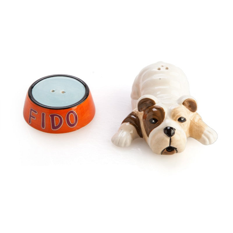 "Dog & Bowl ""Fido"" Salt & Pepper Set"