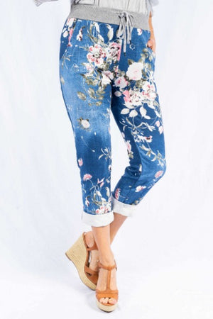 AURELIA FLORAL DENIM | JEGGINGS