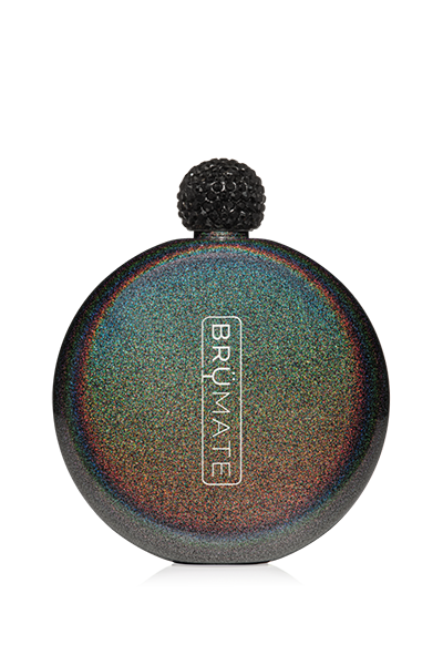 GLITTER FLASK by BruMate | Charcoal