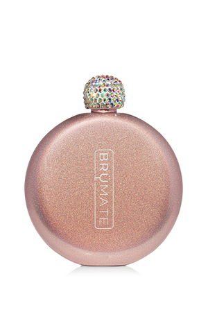 GLITTER FLASK by BruMate | Rose Gold