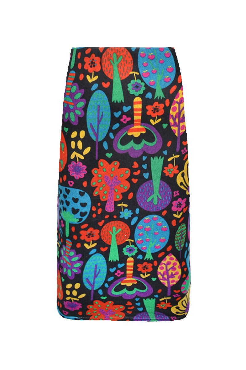 HIGH WAISTED 3/4 PENCIL 'ORCHARD MULTI' | SKIRT