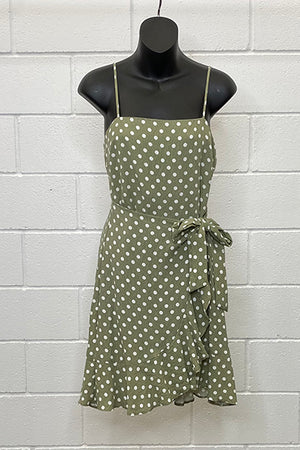 AVERY SAGE WHITE/POLKA DOT | Dress