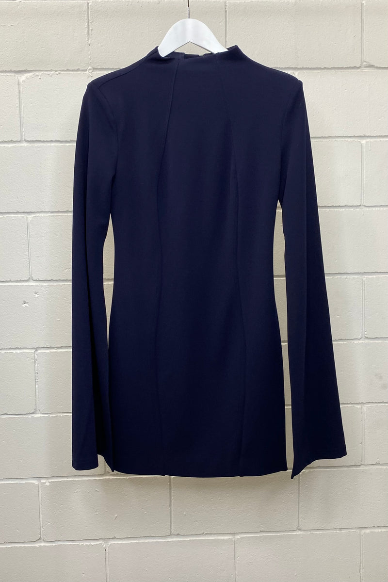 MOSSMAN NAVY LONG SLEEVE SIZE 14 | Dress (Preloved)