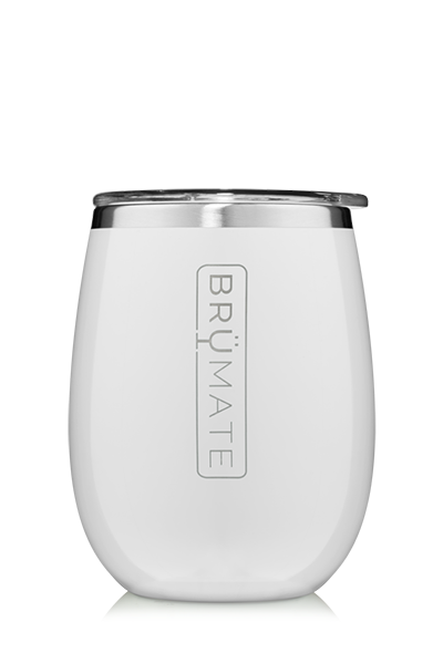 UNCORK'D WINE GLASS by BruMate | Ice White