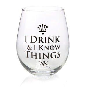 I DRINK & I KNOW THINGS STEMLESS WINE | GLASS