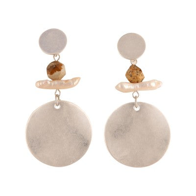 LIZ SILVER DROP | EARRINGS