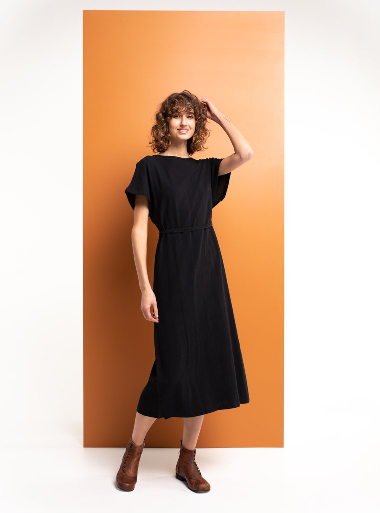 MEMENTO WRAP BLACK | DRESS