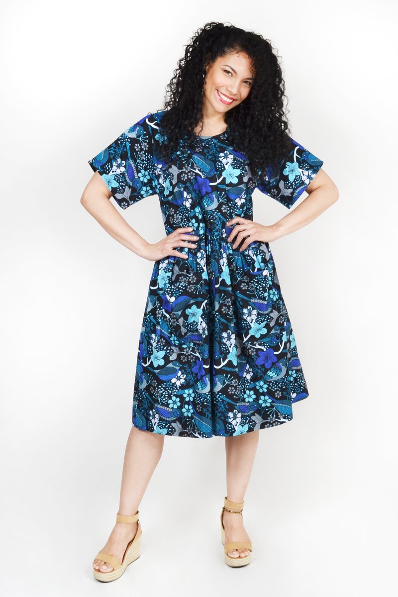 MIA SUNDRESS 'COTTAGE BIRD BLUE' | DRESS