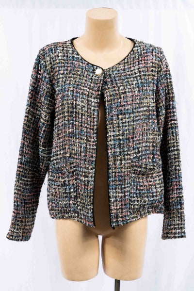 BOUCLE CHANEL-STLYE W/SEQUIN | JACKET