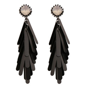 NEW YORK MATTE BLACK DROP | EARRINGS