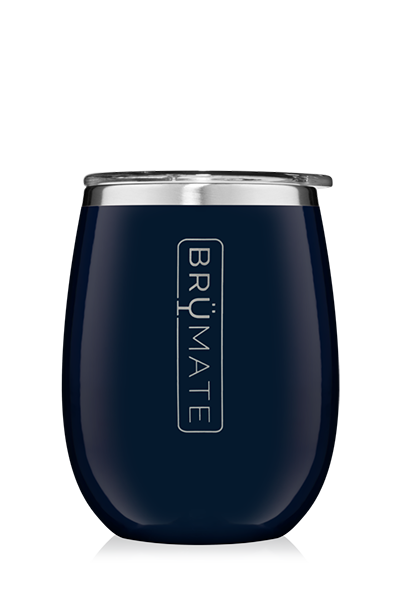 UNCORK'D WINE GLASS by BruMate | Navy
