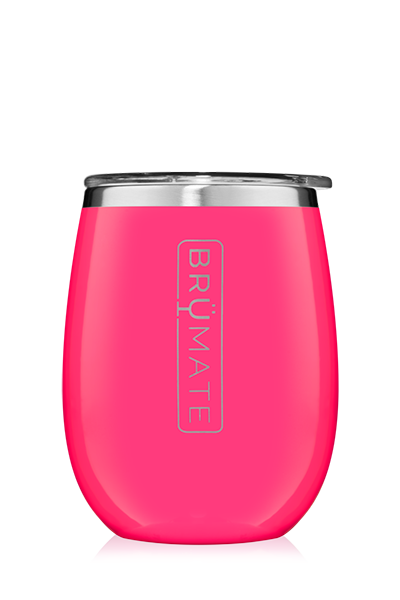 UNCORK'D WINE GLASS by BruMate | Neon Pink