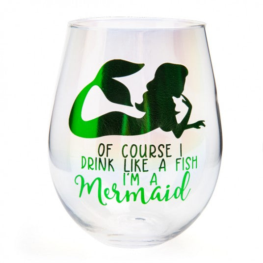 DRINK LIKE A MERMAID | WINE GLASS