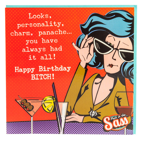 HAPPY BIRTHDAY B*TCH CARD