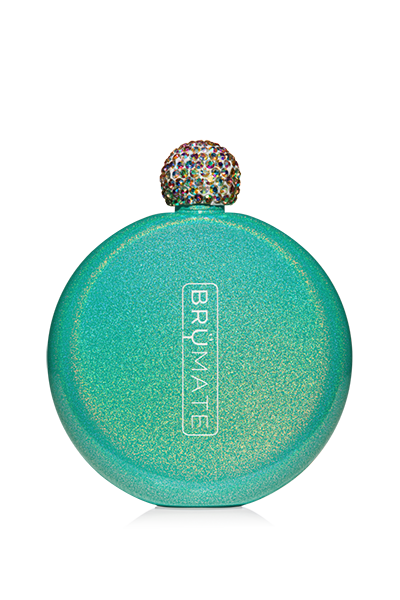 GLITTER FLASK by BruMate | Peacock