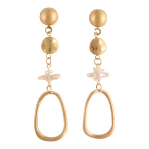 PORTIA GOLD DROP | EARRINGS