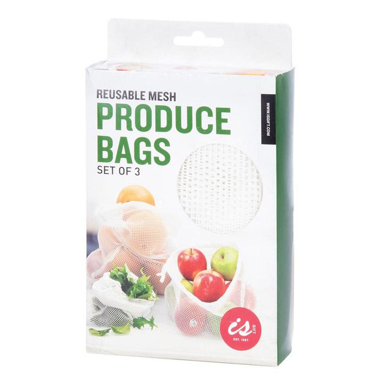 REUSABLE MESH PRODUCE BAGS | Set of 3