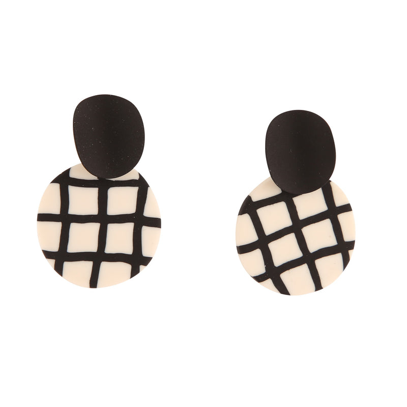 RAVI BLACK & WHITE STRIPE | EARRINGS