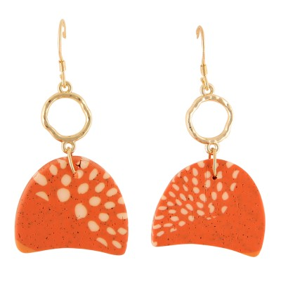 RAVI ORANGE DROP | EARRINGS