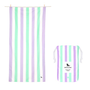 XL SAND FREE, QUICK DRY BEACH TOWEL | LAVENDER FIELDS