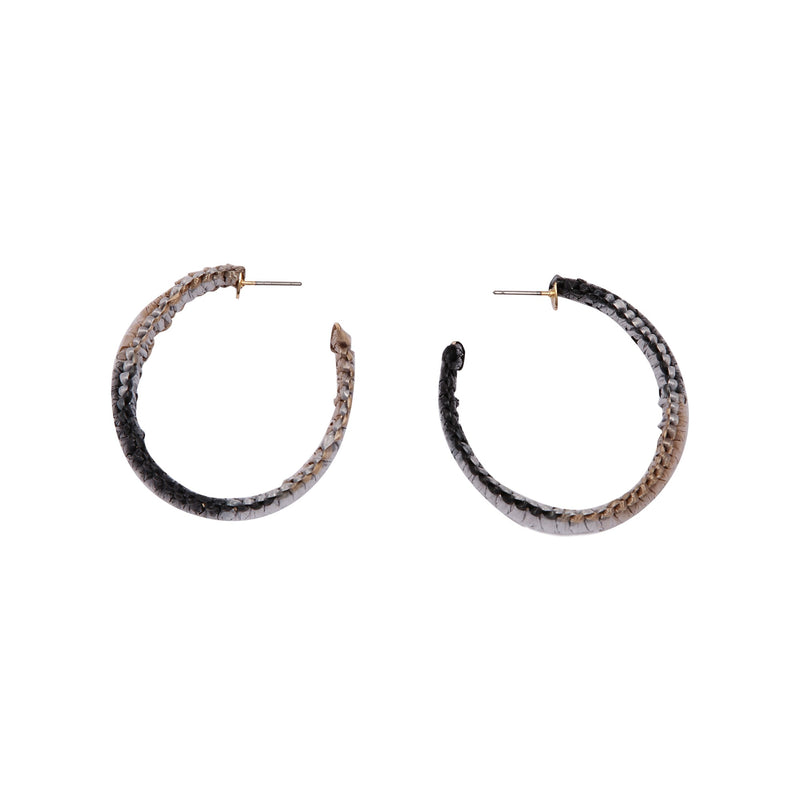 SUVA BLACK HOOP | EARRINGS