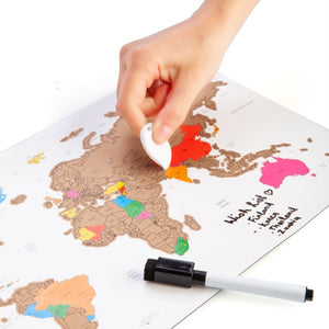 SCRATCH ME AWAY TRAVEL MAP | MAGNETIC MAP