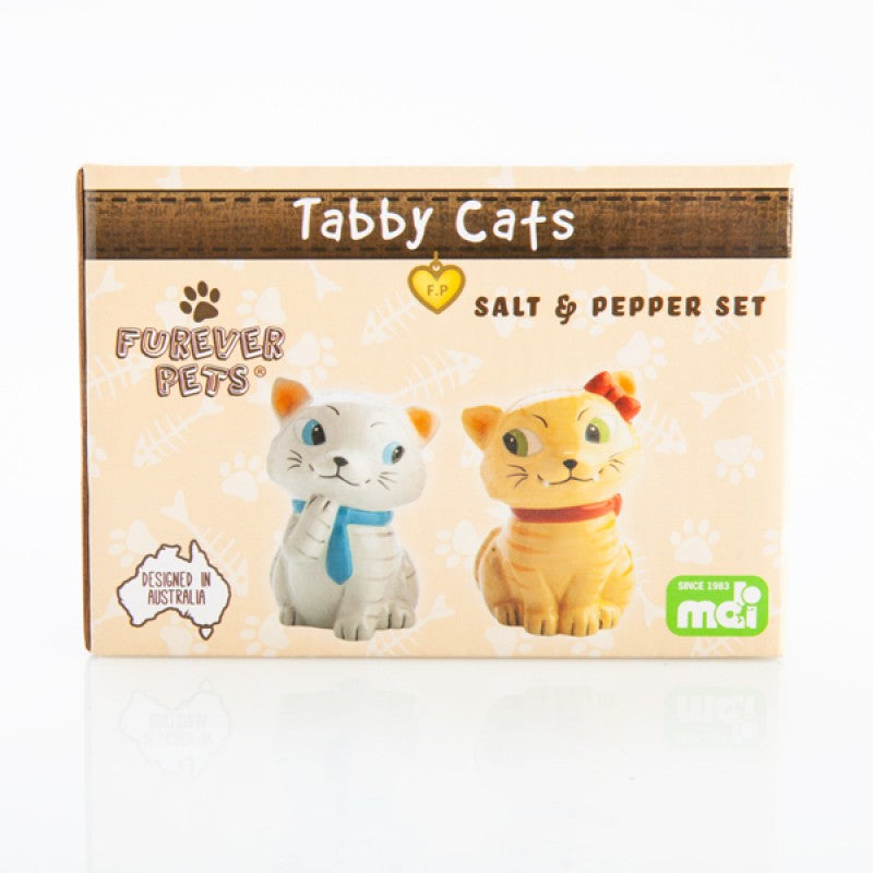 FUREVER TABBY CATS Salt & Pepper Set
