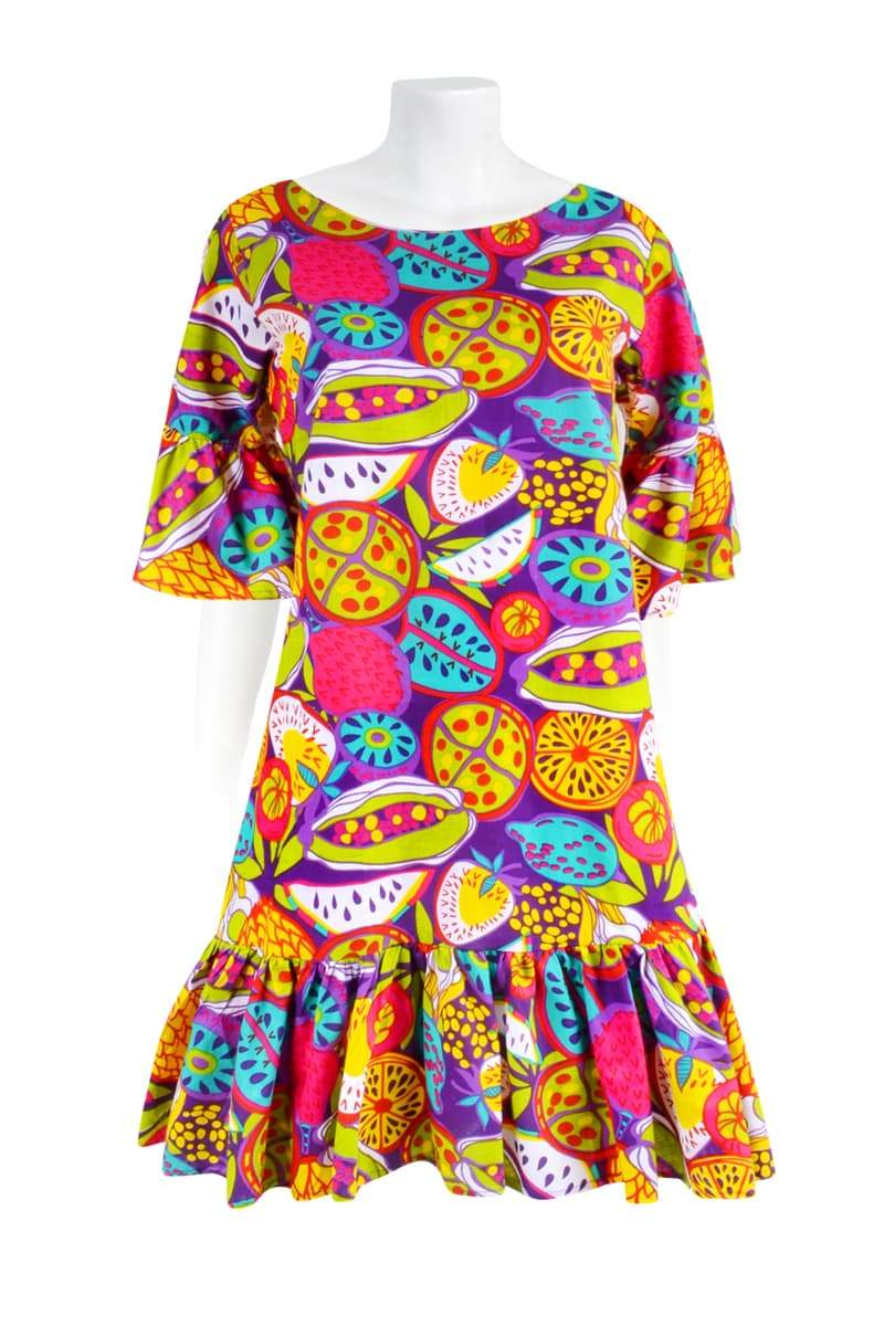 THE BELLA RUFFLE 'FRUIT SALAD TROPICAL' | DRESS