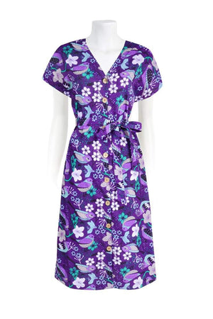 NORA 'COTTAGE BIRD PURPLE' | DRESS