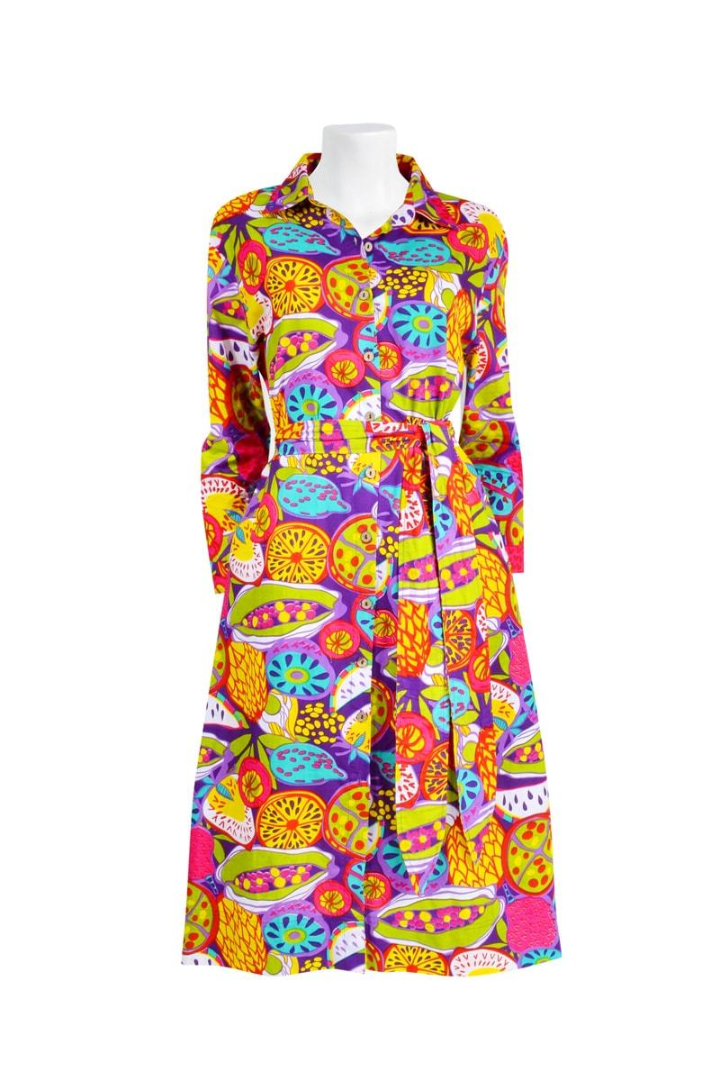 THE VALENTINA SHIRT 'FRUIT SALAD TROPICAL' | DRESS