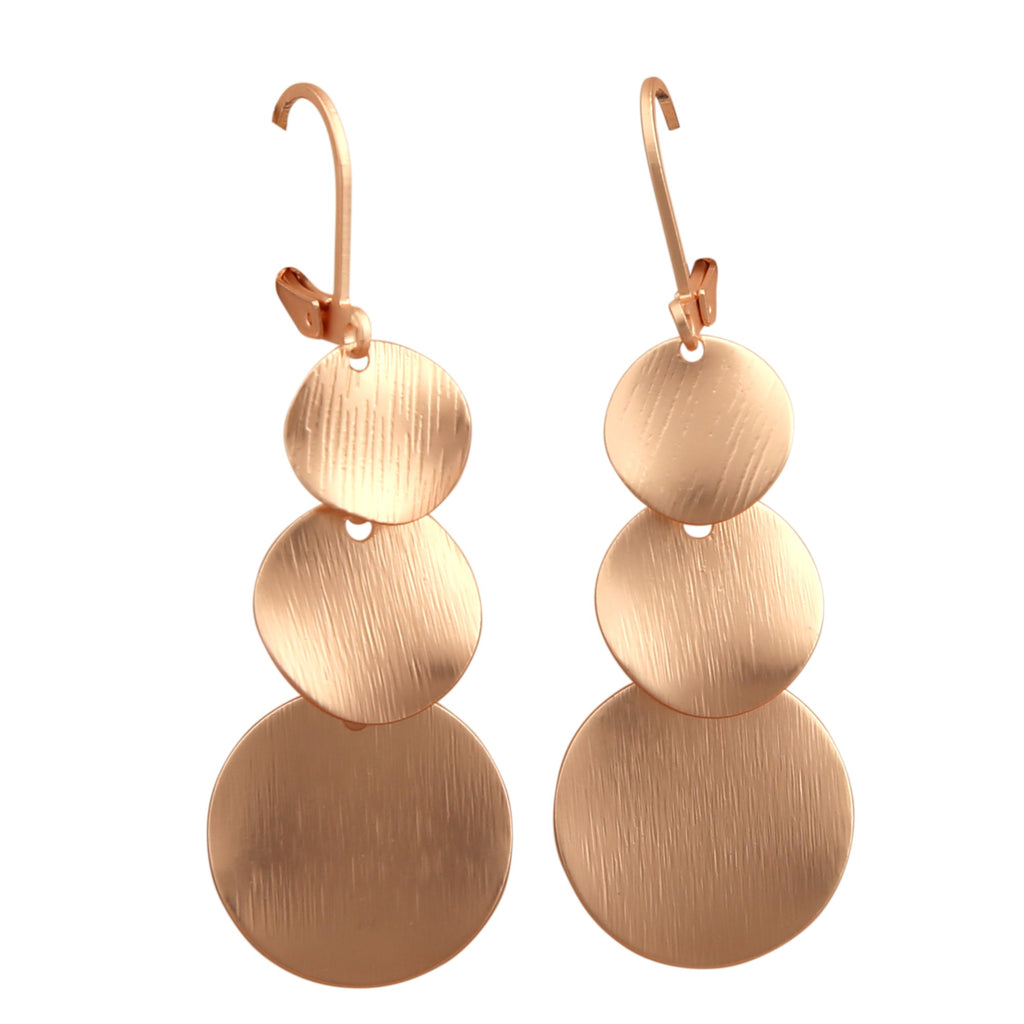 TIZZ ROSE-GOLD DROP | EARRINGS